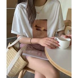 フォトプリントTシャツ (ホワイト)