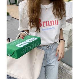 ビッグロゴプリントTシャツ (ホワイト)