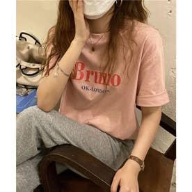 ビッグロゴプリントTシャツ (オレンジ)