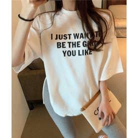 オーバーサイズロゴTシャツ (ホワイト)