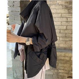 バックスピンドルレイヤードジャケット (ブラック)
