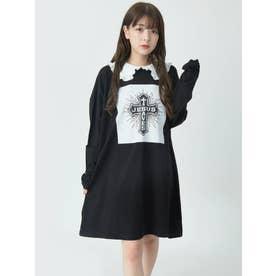 丸衿ロンTE (ブラック)