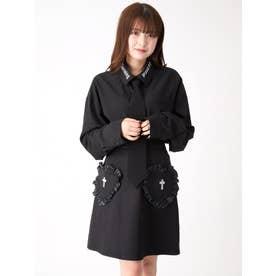 クロスモチーフハートポケットスカート (ブラック)