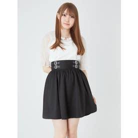 合皮ベルトスカート (ブラック)