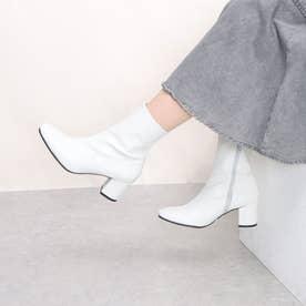【ネット限定】【レイン対応】トレンドアイテム美脚スクエアトゥショートブーツ 【晴雨兼用】
