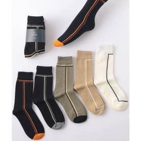 ラインソックス5足セット ユニセックス 靴下(MIX)