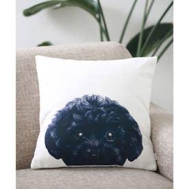 Miart × コラボ クッションカバー ペットデザイナー 犬 猫 (ホワイト×ブラック)