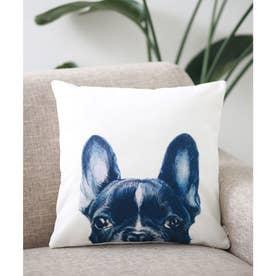 Miart × コラボ クッションカバー ペットデザイナー 犬 猫 (ホワイト×グレー)