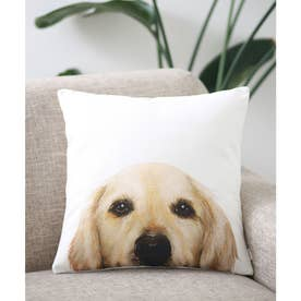 Miart × コラボ クッションカバー ペットデザイナー 犬 猫 (ホワイト×イエロー)
