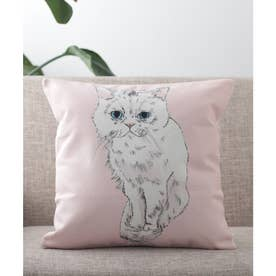 クッションカバー 犬 猫 (ピンク)