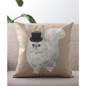 猫 クッションカバー (ライトブラウン)