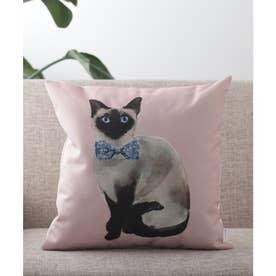 猫 クッションカバー (ライトピンク)
