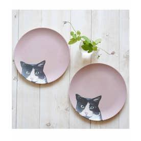 軽くて割れない エコバンブー皿 2枚セット (ピンク)