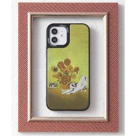 【12対応】TPU 鏡面 名画やペットデザイン iPhone スマホケース (イエロー)