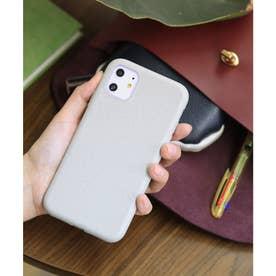 リサイクル竹素材 パステルカラー エコiPhone スマホケース 【11/X/XS/SE/6/7/8/ 対応】 (グレー)