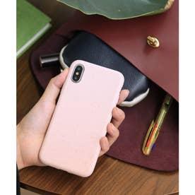 リサイクル竹素材 パステルカラー エコiPhone スマホケース 【11/X/XS/SE/6/7/8/ 対応】 (ピンク)