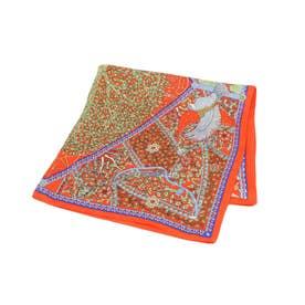 オリジナルツリープリントスカーフ (ライトオレンジ)
