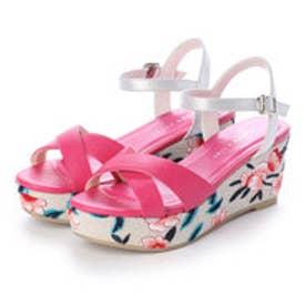 ◆Fitソール◆刺繍ソールサンダル 204-2368 (ピンク)