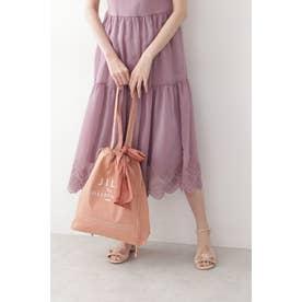 スカーフロゴトートバッグ ピンク
