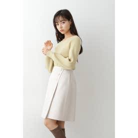 ◇クラシカルチェック&ヘリンボンスカート ホワイト