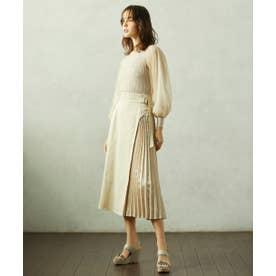 サイドプリーツスカート ホワイト