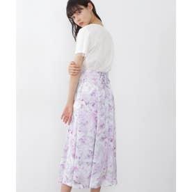  美人百花4月号掲載商品 マーブルフローラルスカート ピンク