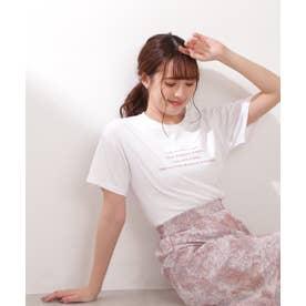 ≪チャリティー≫バックフラワープリントTシャツ ホワイト
