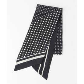 レギュラー ドット スカーフ (ブラック系5)