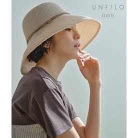 【UNFILO・UVカット】ワイド  ハット(検索番号:UK56) (アイボリー系)