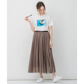 【Sサイズ有】 ライト エコ レザー プリーツ スカート (ブラウン系)