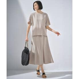 【イージーケア/セットアップ対応】サマーセットアップ スカート (ベージュ)