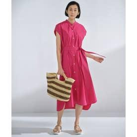 【丈が選べる!】カスタマイズ シャツワンピース 116cm (ピンク)