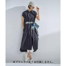 【丈が選べる!】カスタマイズ シャツワンピース 116cm (ネイビー)