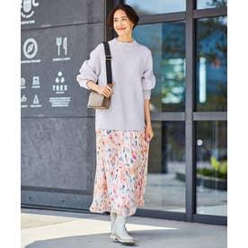 【Sサイズ有】エリカフラワープリント スカート (ピンク系5)