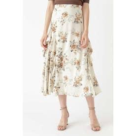◆メリンダフラワー柄スカート BEIGE