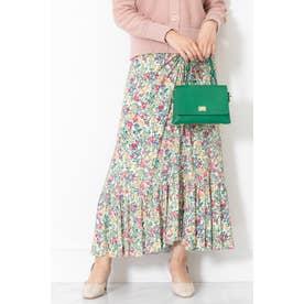 ◆キャンディス小花柄ギャザースカート OFF WHITE
