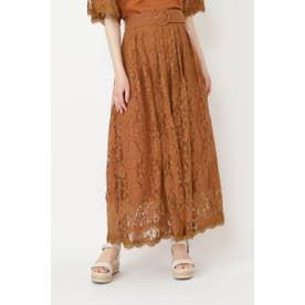 ◆サリーリネンレーススカート TERRACOTTA