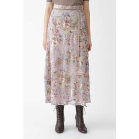 ◆ベルベットフラワーナロースカート DUSTY PINK
