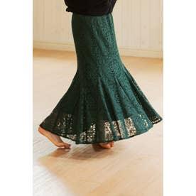 ◆ティアレーススカート MOSS GREEN