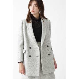 ◆マイラツイードダブルブレストジャケット GRAY