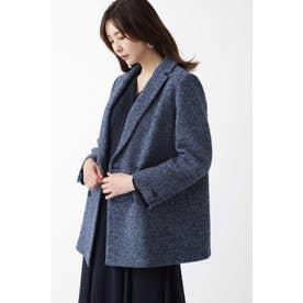 ◆マイラツイードダブルブレストジャケット BLUE