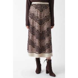 ◆アレクサチュールレーススカート BROWN