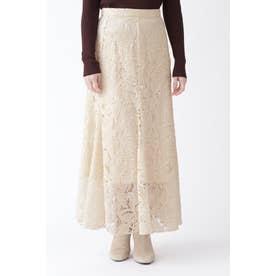 ◆[限定]エンブロイダリーレーススカート OFF WHITE