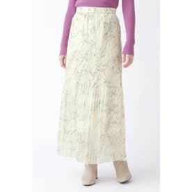 ◆[限定]ウォータプリントプリーツスカート WHITE