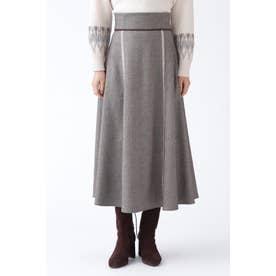 ◆ツイードロングスカート BROWN