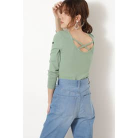 LE MINOR バッククロスTシャツ GREEN