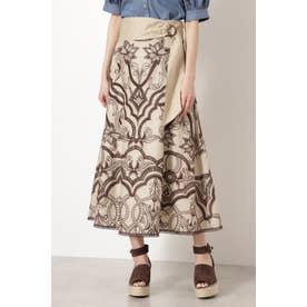 ◆サンドラエンブロイダリースカート BEIGE
