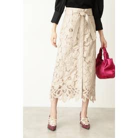 ◆ファンナフェイクレザースカート BEIGE