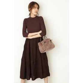 ◆カティアニットドレス BROWN