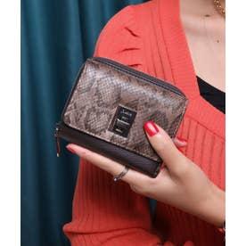 回転金具 三つ折りミドル財布 (DBRN/PYT)